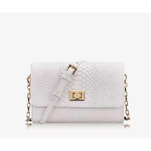 Gigi New York Catherine White Crossbody Bag NEW